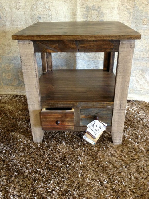 Distressed Wood with Shelf