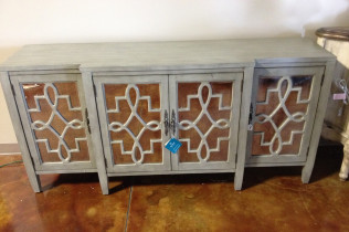 Teal Mirrored Console