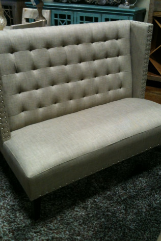 Taupe Linen Benchseat