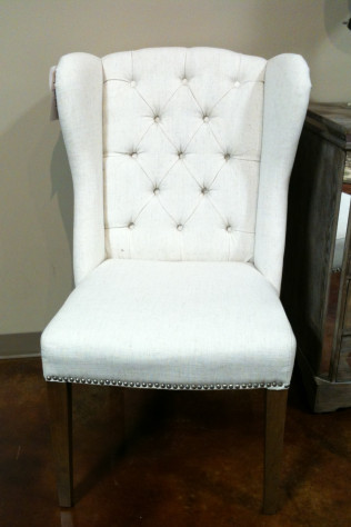 White Linen Chair