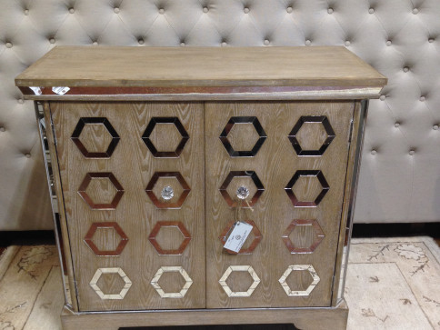 Mirrored Hexagon Cabinet