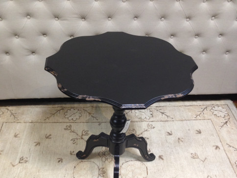 Black Distressed Accent End Table
