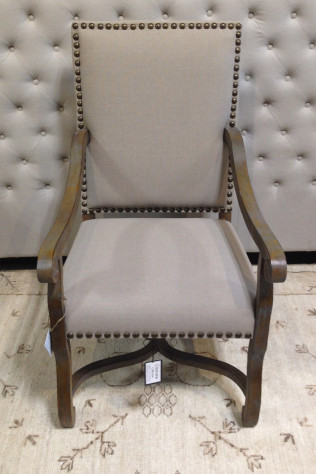 St. James Nailhead / Linen Chair