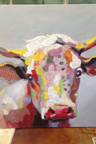 Colorful Cow Art